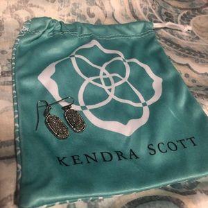Kendra Scott Lee earrings in Platinum Drusy.